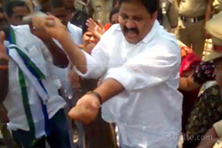 YCP MLA Slaps Himself With His shoe