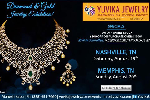 Yuvika Diamond Jewelry Shows in Nashville & Memphis
