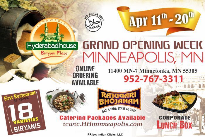 Minneapolis - Nawabi HYDERABAD HOUSE Grand Opening