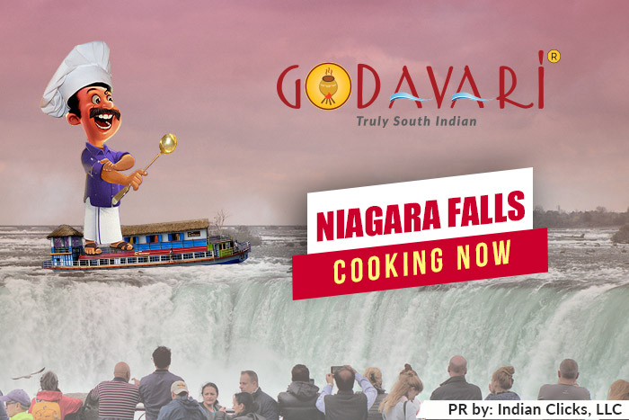 Godavari is now flowing in NIAGARA FALLS, USA
