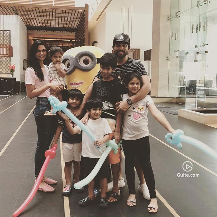 Pic: Allu Arjun's day out with his family kids