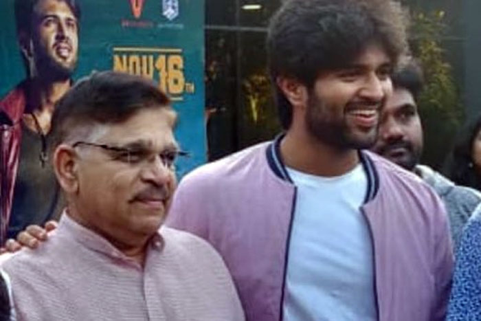 Deverakonda Lays Hand On Allu Arvind, Team Upset?