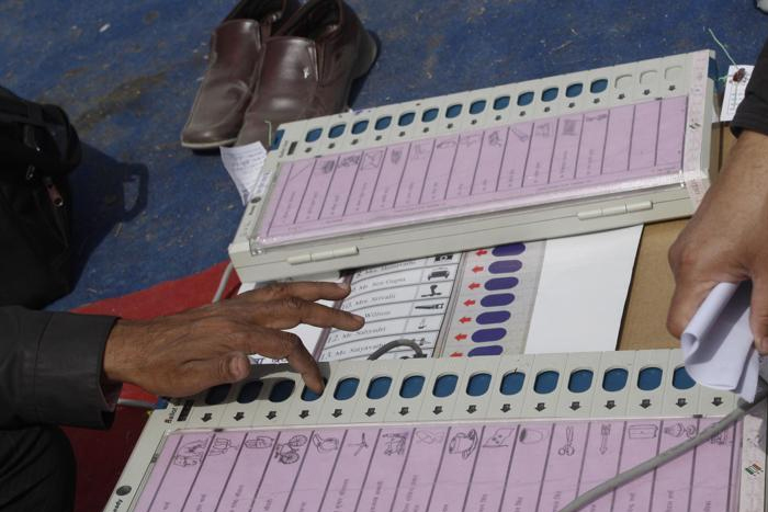 Opp parties' night-out in front of EVM storerooms