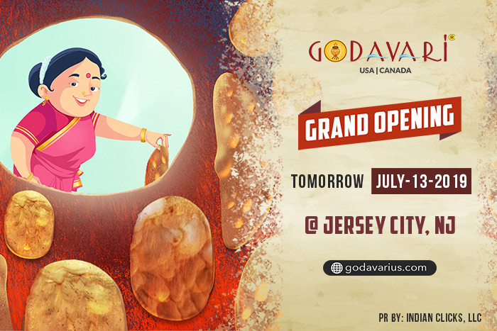 Godavari coming to Jersey City, NJ this Weekend !!