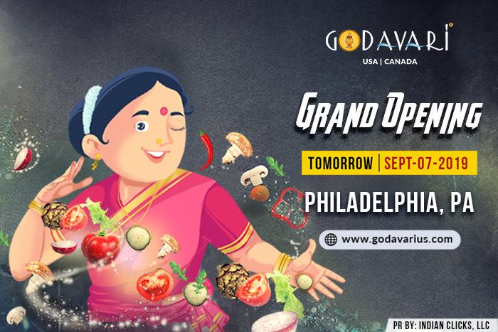 Godavari Flows to Philadelphia Area this Weekend!!