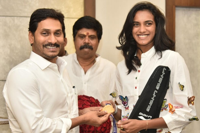 YS Jagan gifts five acres for Sindhu in Vizag!
