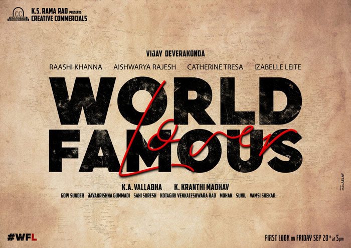 Title Poster: Vijay Deverakonda's World Famous Lover