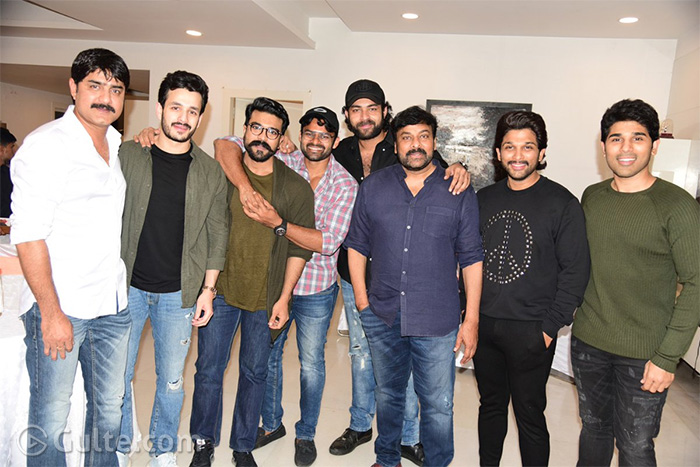 Allus Clear All The Air: Hosts Party For Sye Raa Team