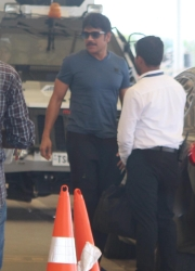 Nagarjuna snapped at Hyderabad Airport