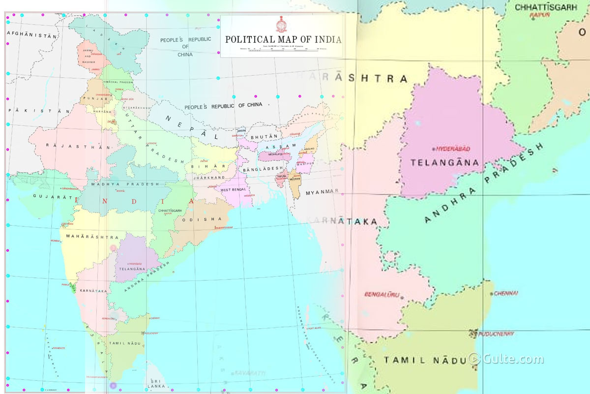 India's New Political Map: AP Only State Without Capital