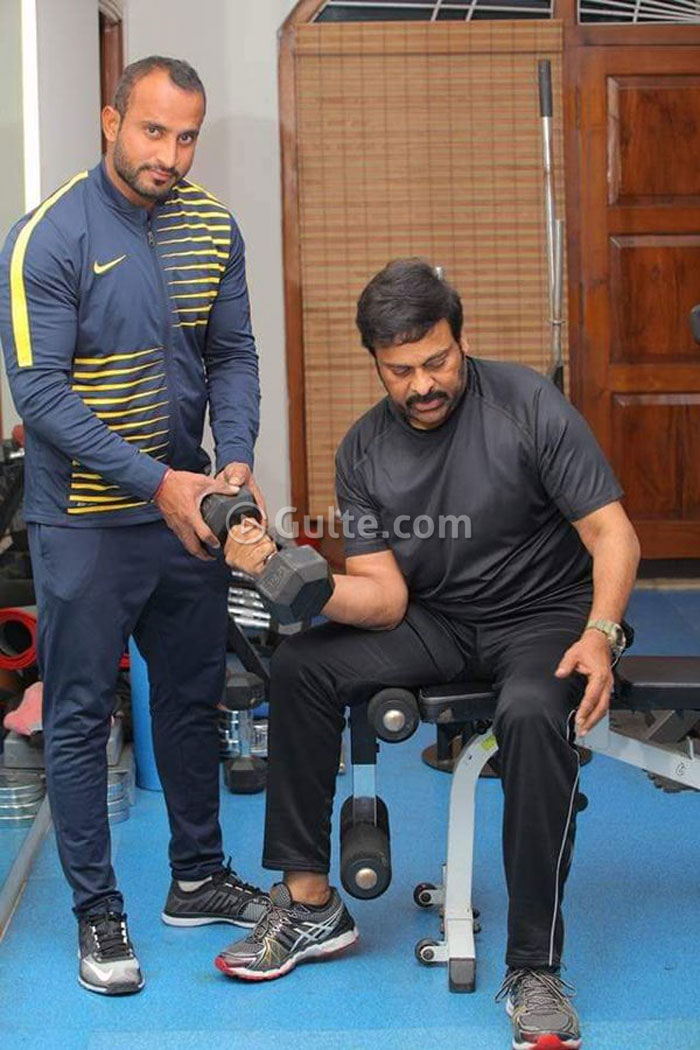 Pic Talk: Chiranjeevi Workouts In Gym