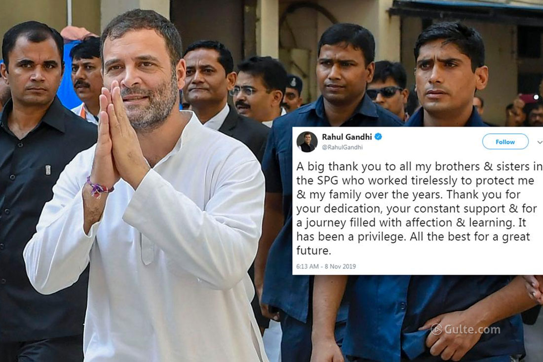 Centre removes SPG to Gandhi family; Rahul tweets thank you