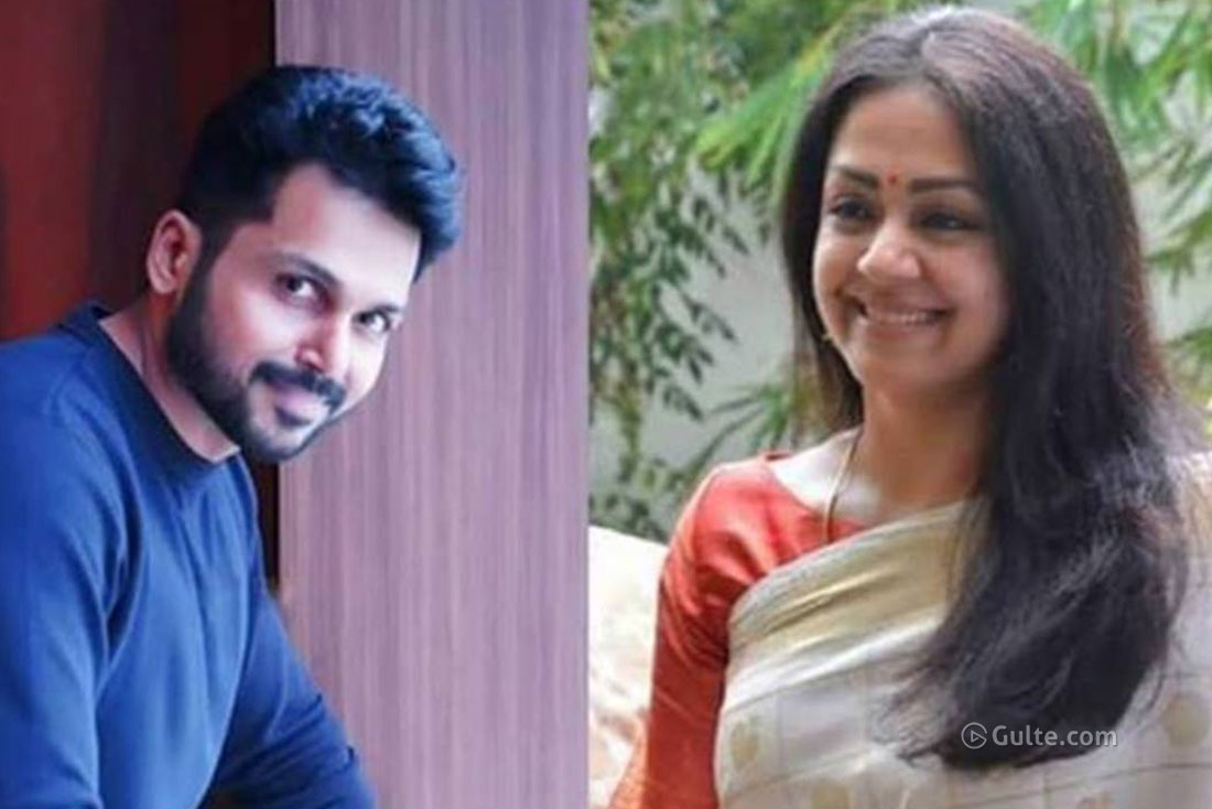 Now, Karthi is Jyothika's 'Thambi'