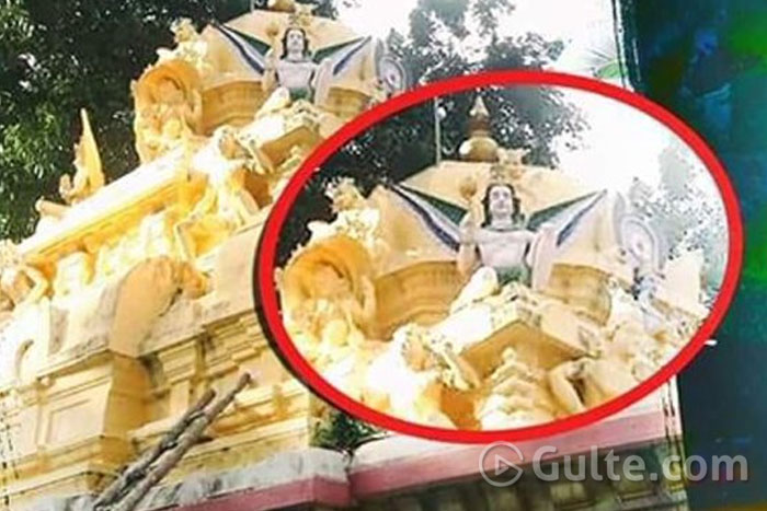 Shock: YCP Colour To Idol On Temple