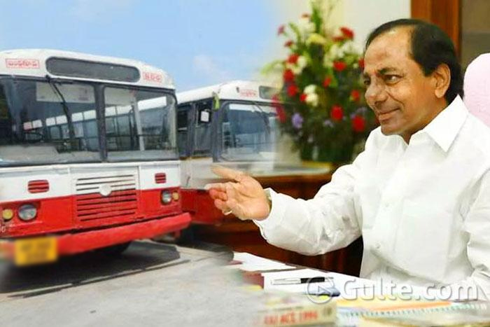 Good news: KCR Asks #TSRTC Employees To Join Back