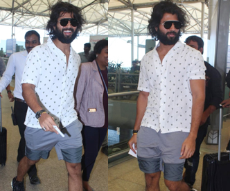 Vijay Deverakonda in shorts at Airport