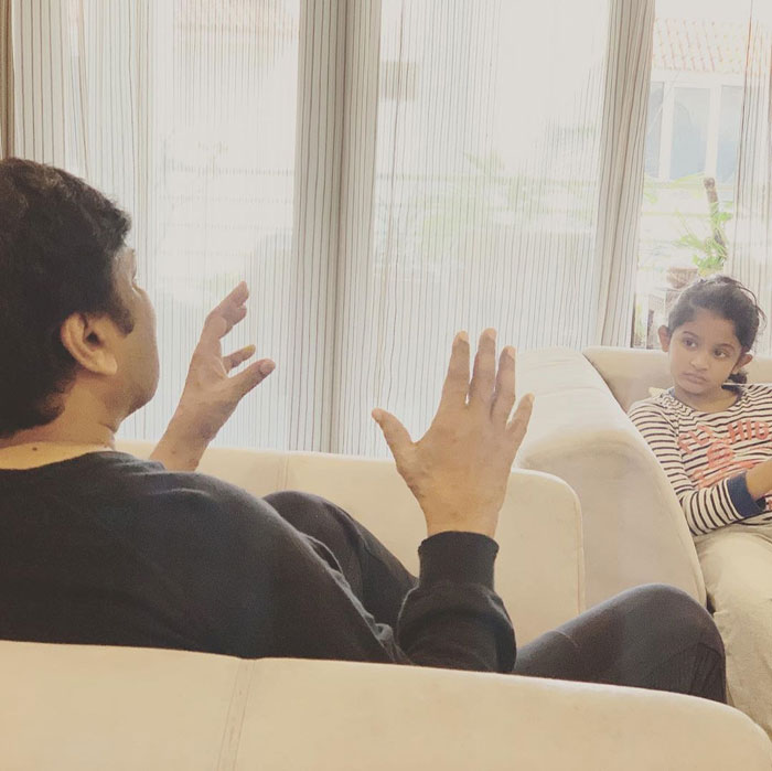 Watch: Chiru's storytelling session with granddaughter