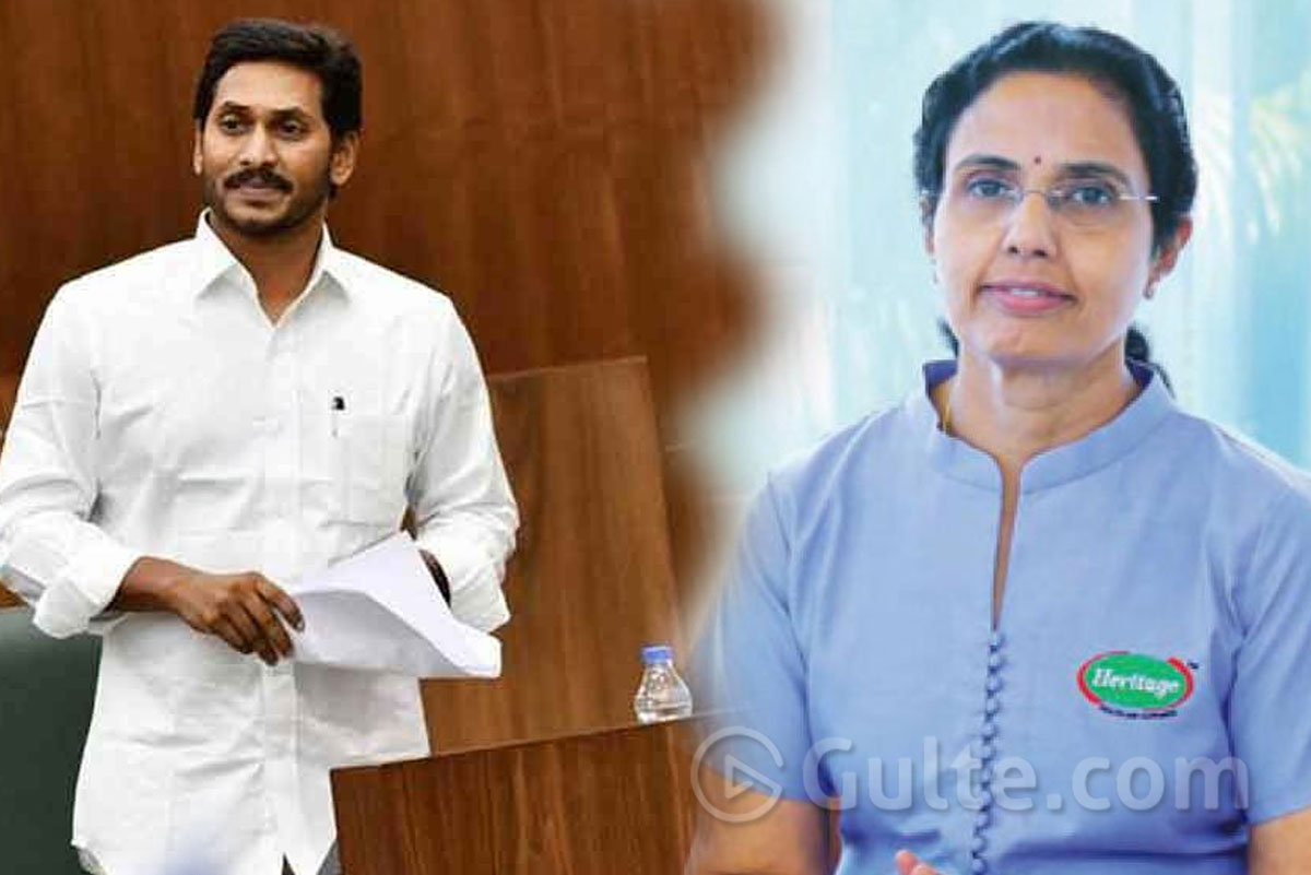 Chandrababu Wife Reacts On Jagan's 'Heritage' Comments