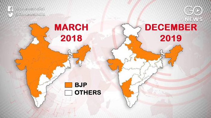 The Fall Of BJP: Saffron map shrinks further
