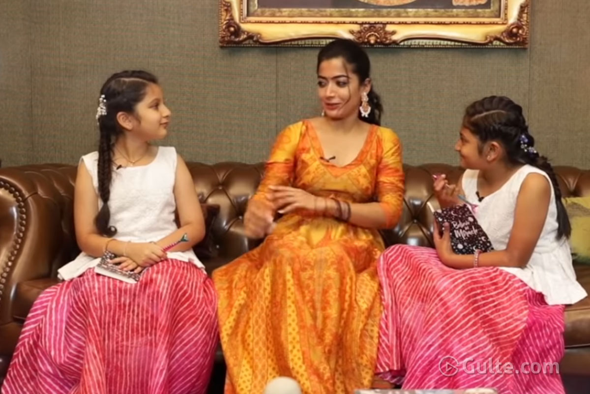 Watch: Rashmika Fun Time With Sitara, Aadya