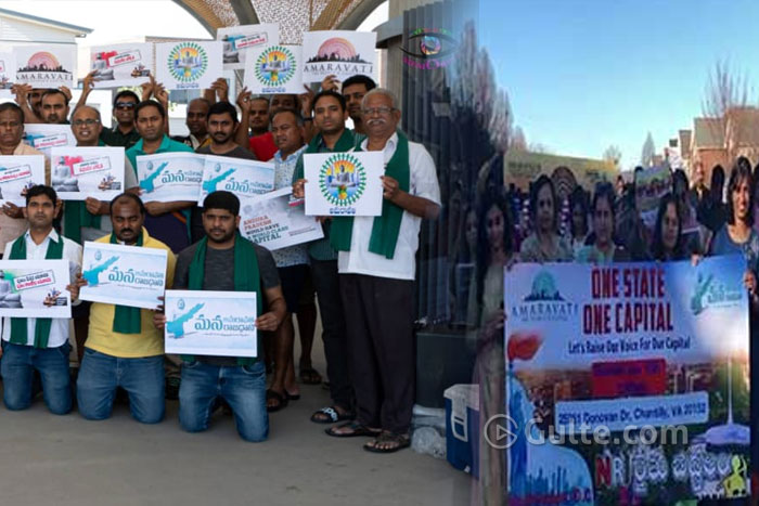 Three Capitals: NRIs protest in US and Aus