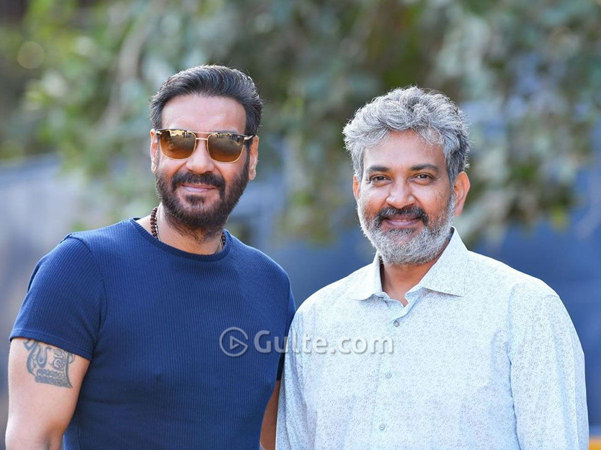 Pic talk: Ajay Devgn and Rajamouli on RRR sets