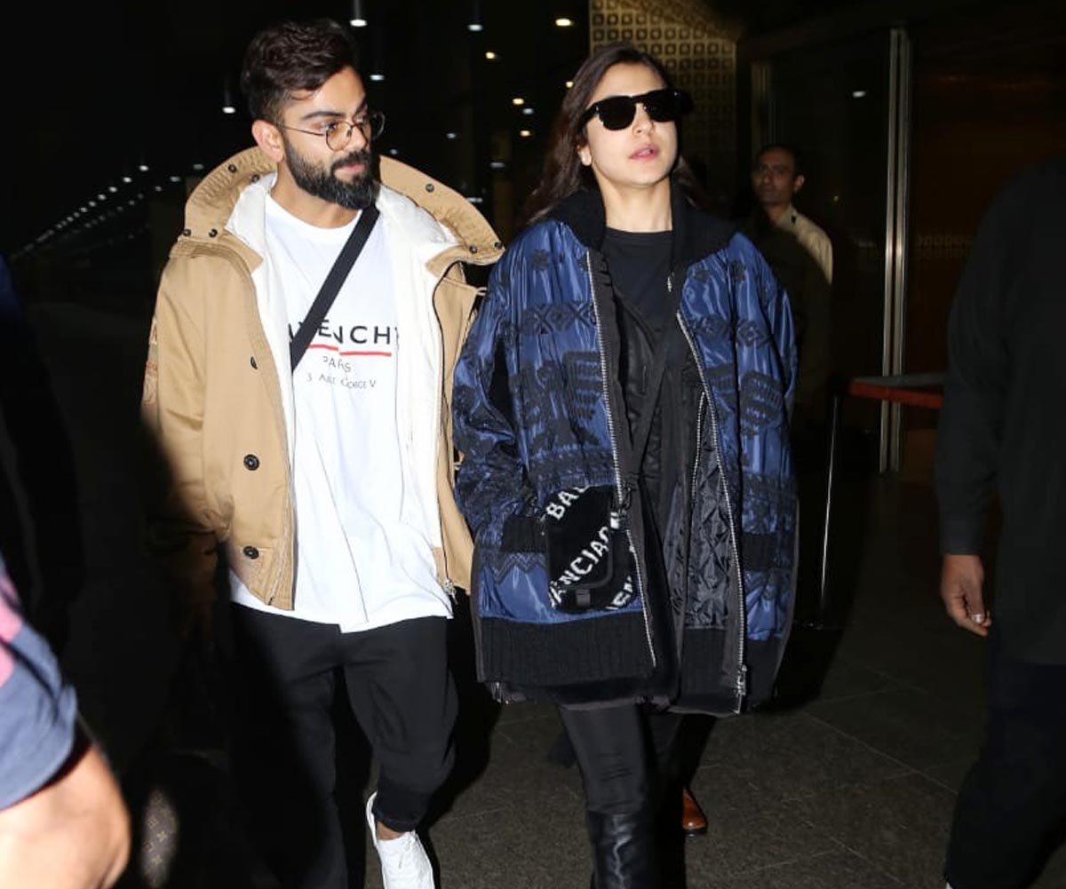 Virat Kohli and Anushka Sharma back from Swiss