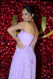 Anasuya hot in thigh slit dress at Zee Cine Awards Telugu