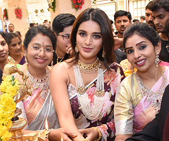 Niddhi Agerwal Launches Manepally Jewellers Pics