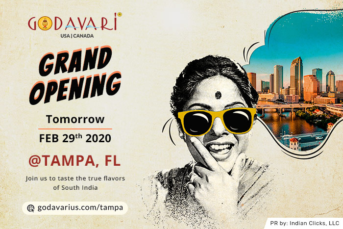 Godavari Enters Florida with Tampa Location