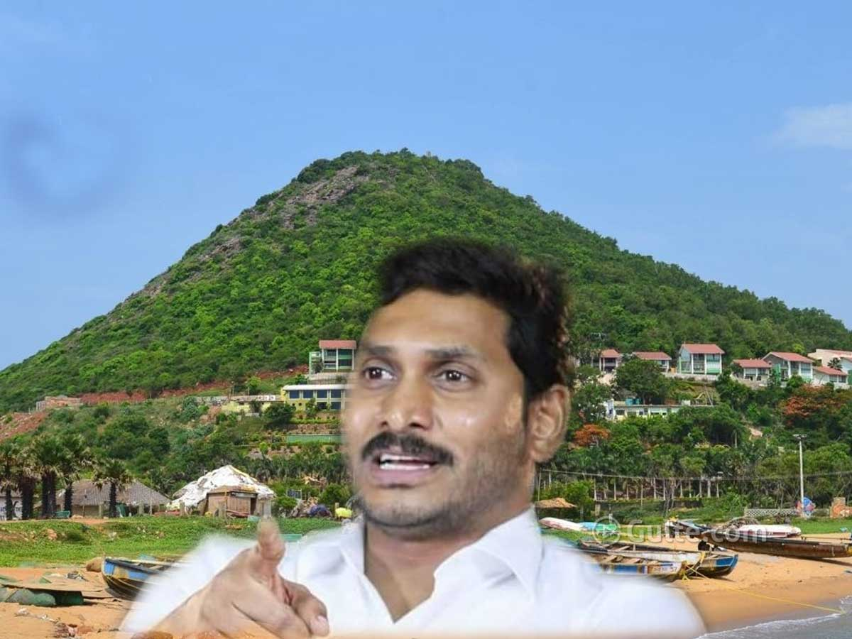 CM Jagan's New House on Rushikonda Hilltop?
