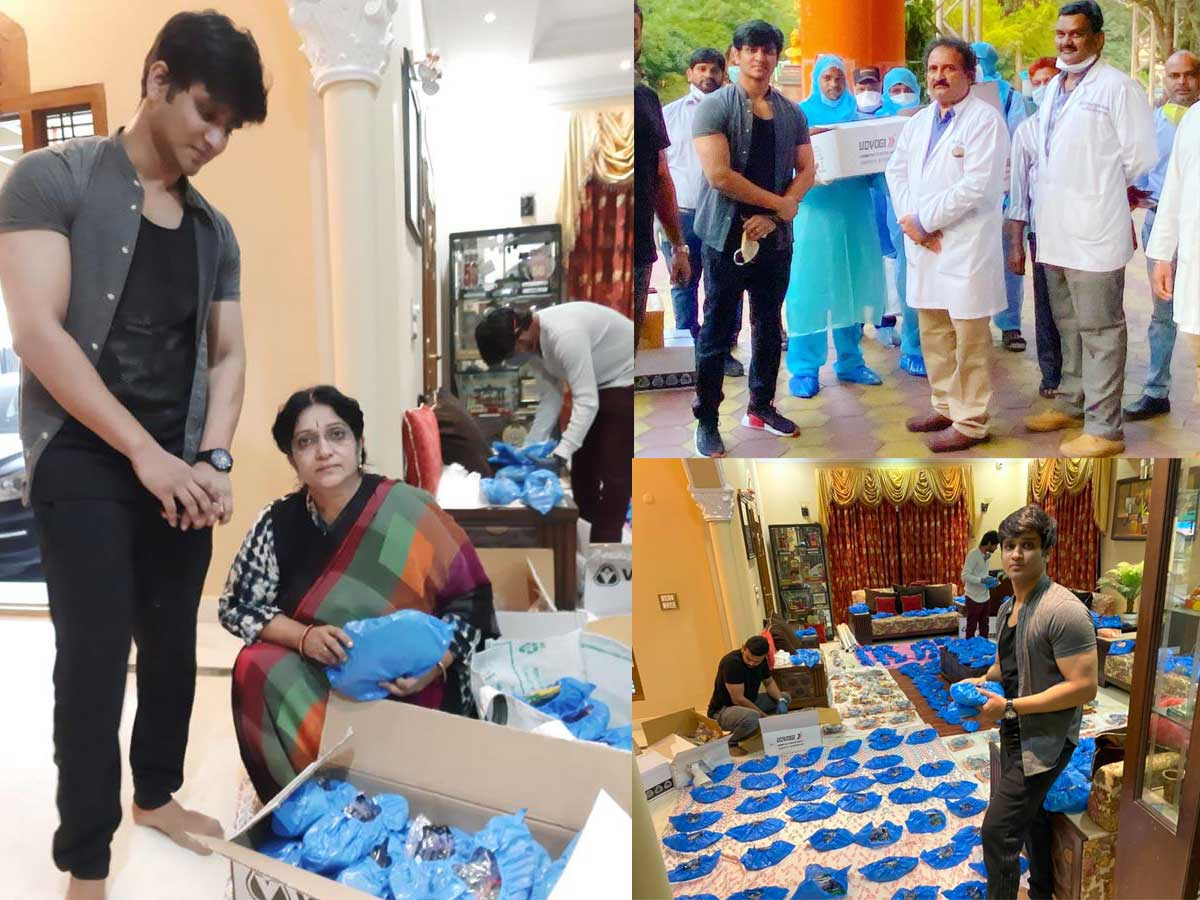Nikhil Donates Respirators, Masks, Sanitizers