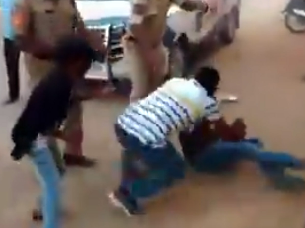 Viral Video: Telangana Cops Beat A Man In Front Of His 10-year-old Son