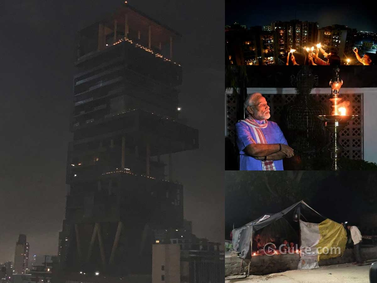 #9pm9minutes: Ambani's Residence To Slums, India Lights Up