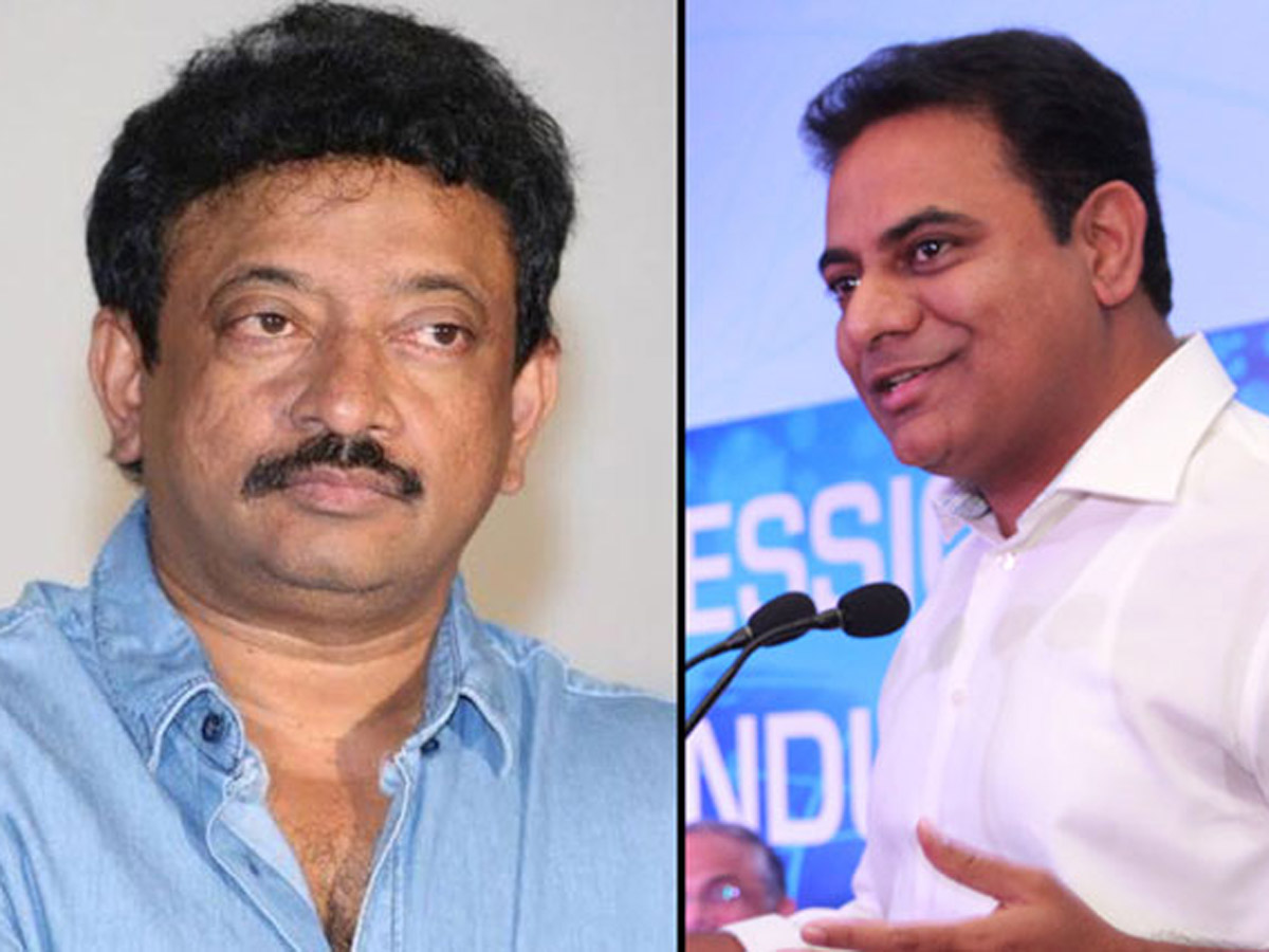 RGV Asks for 'CHEERS', KTR Says 'Hair Cut?'