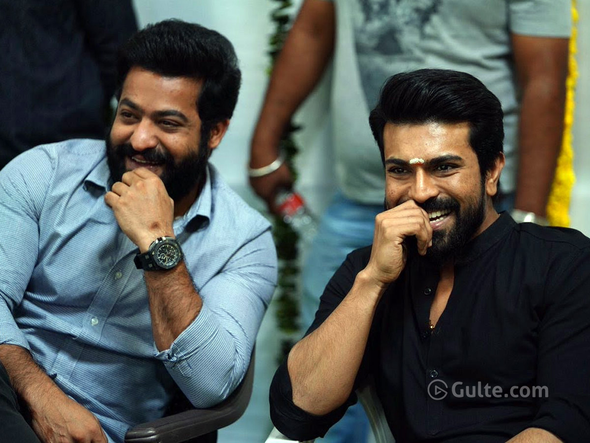 #RRR: Dubbing Going On From NTR & Charan's Houses