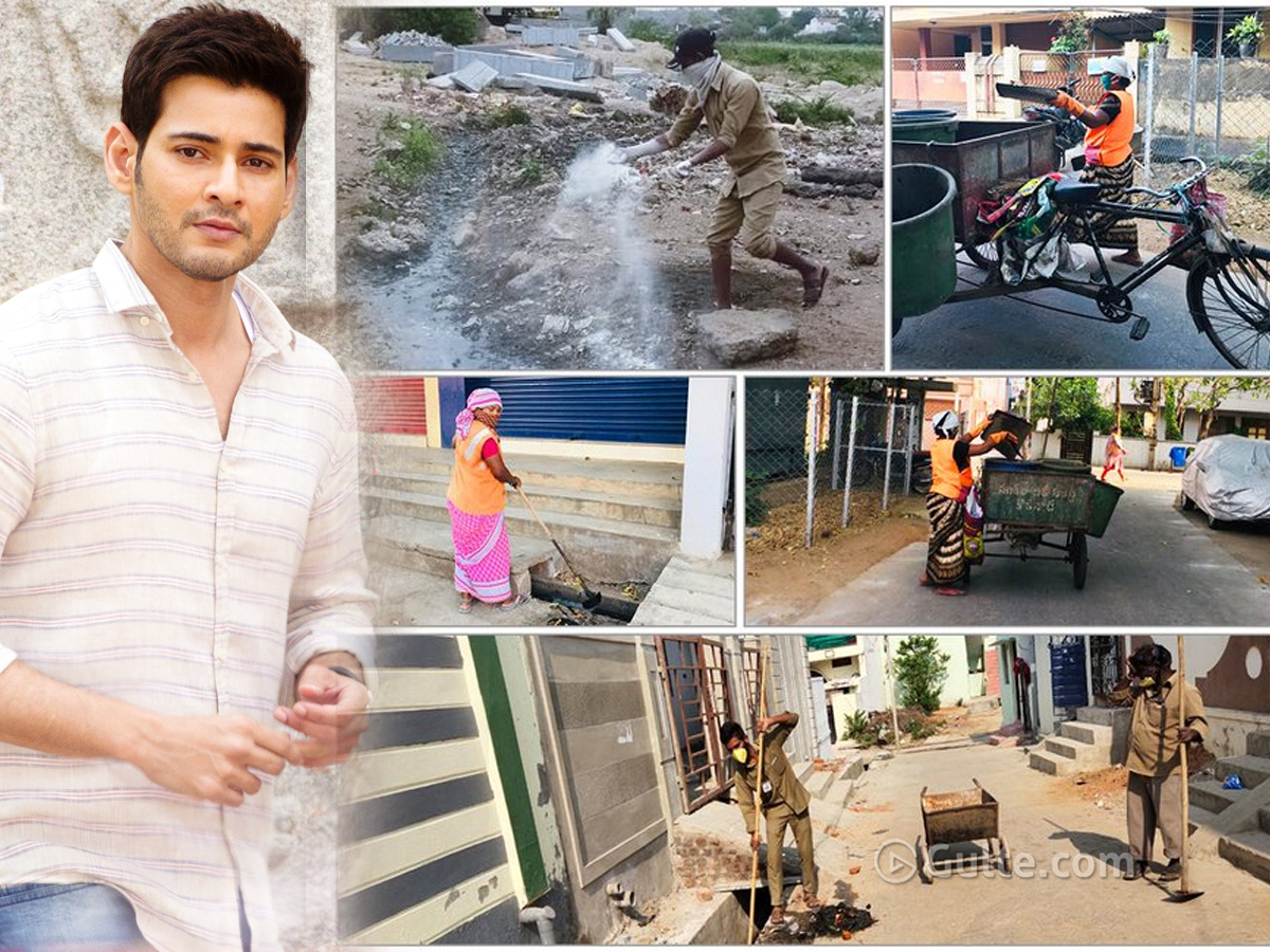 Mahesh hails sanitation workers