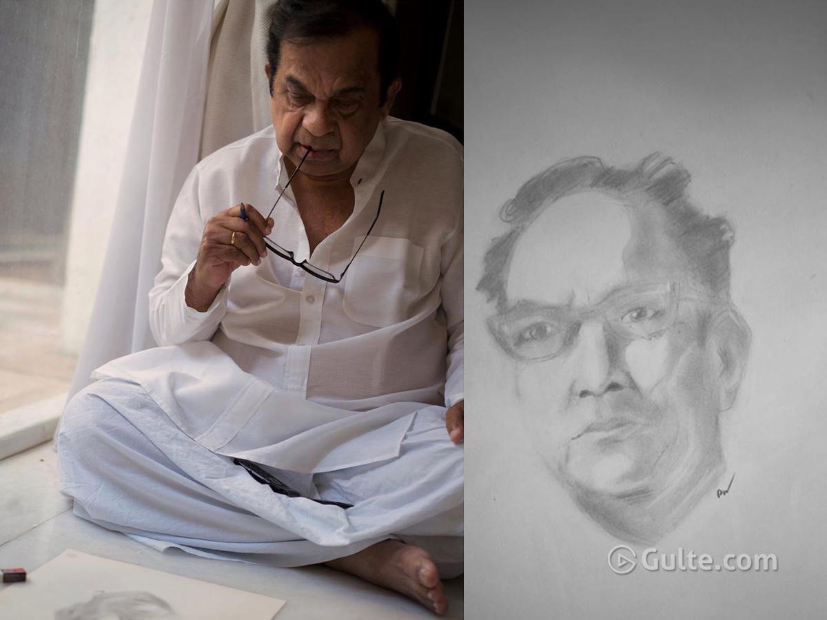 Pic Talk: When Brahmanandam Turned Sketching Artist