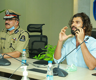 Vijay Deverakonda interacts with Field level police officers